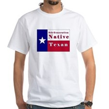5th Generation Native Texan Flag Shirt