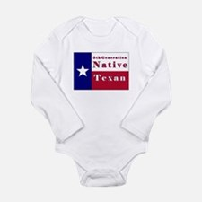 5th Generation Native Texan Flag Long Sleeve Infan