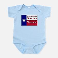 5th Generation Native Texan Flag Infant Bodysuit