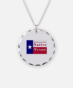 5th Generation Native Texan Flag Necklace