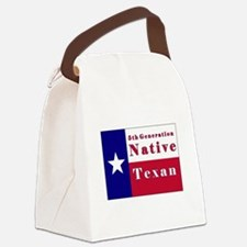 5th Generation Native Texan Flag Canvas Lunch Bag