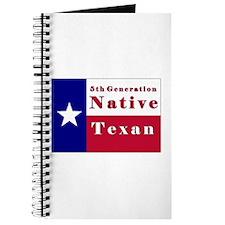 5th Generation Native Texan Flag Journal