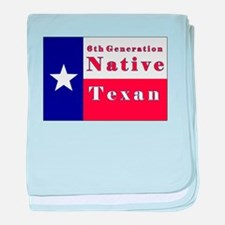 6th Generation Native Texan Flag baby blanket