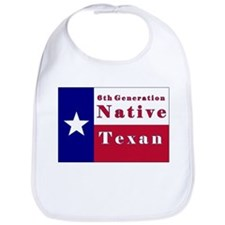 6th Generation Native Texan Flag Bib