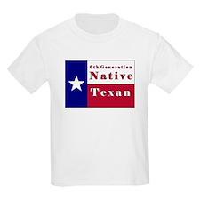6th Generation Native Texan Flag T-Shirt