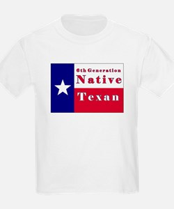 6th Generation Native Texan Flag T-Shirt
