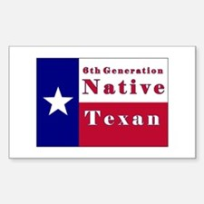 6th Generation Native Texan Flag Decal