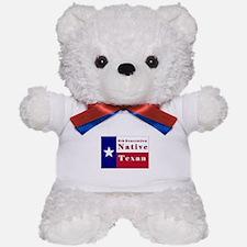 6th Generation Native Texan Flag Teddy Bear