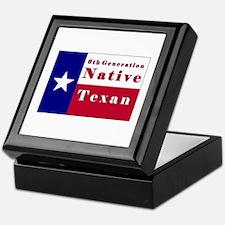 6th Generation Native Texan Flag Keepsake Box
