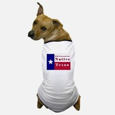 6th Generation Native Texan Flag Dog T-Shirt