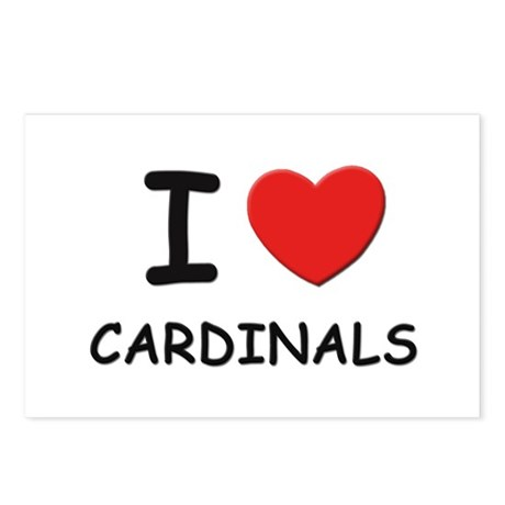 I love cardinals Postcards (Package of 8)