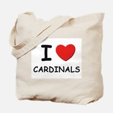 I love cardinals Tote Bag