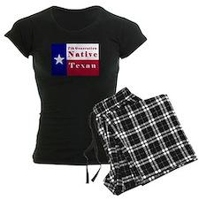 7th Generation Native Texan Flag Pajamas