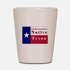 7th Generation Native Texan Flag Shot Glass