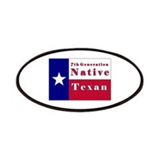 7th Generation Native Texan Flag Patches