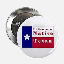 "7th Generation Native Texan Flag 2.25"" Button"