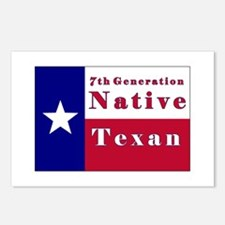 7th Generation Native Texan Flag Postcards (Packag