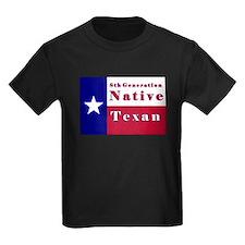 8th Generation Native Texan Flag T