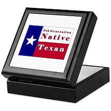 8th Generation Native Texan Flag Keepsake Box