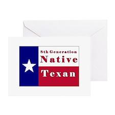8th Generation Native Texan Flag Greeting Card