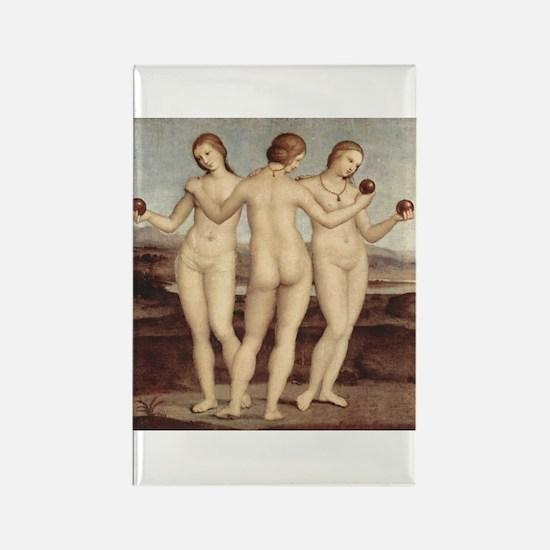Raphael - The Three Graces - Rectangle Magnet