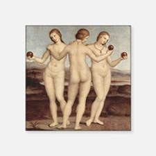 "Raphael - The Three Graces - Square Sticker 3"" x 3"