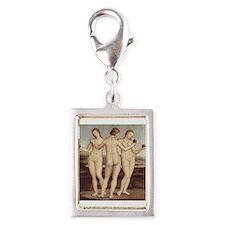 Raphael - The Three Graces - Silver Portrait Charm