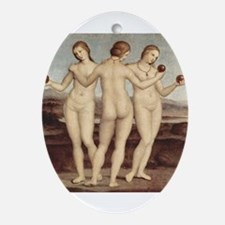 Raphael - The Three Graces - Ornament (Oval)