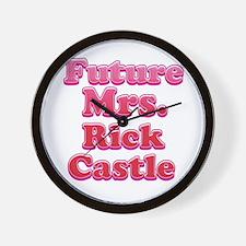 Future mrs Rick Castle pink Wall Clock