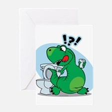 T-Rex and the Potty Greeting Card