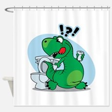 T-Rex and the Potty Shower Curtain