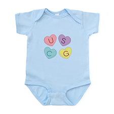 USCG Sweettarts Infant Bodysuit