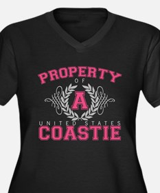 Property of a U.S. Coastie Women's Plus Size V-Nec