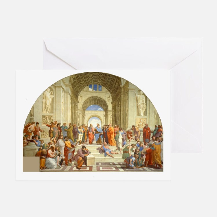 Raffaello School of Athens Greeting Card