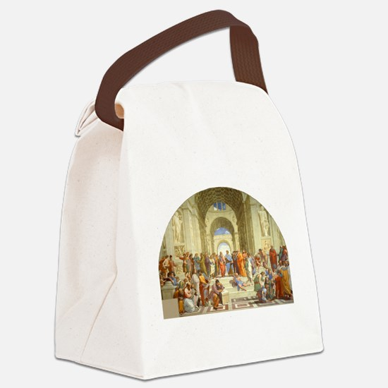 Raffaello School of Athens Canvas Lunch Bag