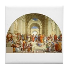Raffaello School of Athens Tile Coaster