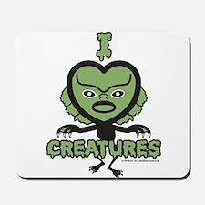 I Heart Creatures Mousepad