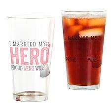 I Married my Hero Drinking Glass