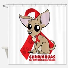 Chihuahuas for HIV/AIDS Awareness Shower Curtain