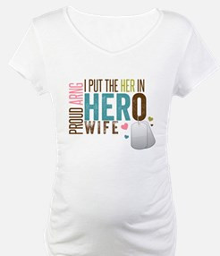 I Put the Her in Hero Proud ARNG Wife Shirt