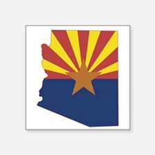 "Arizona Flag Square Sticker 3"" x 3"""