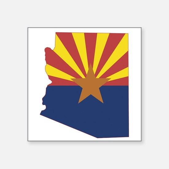 """Arizona Flag Square Sticker 3"""" x 3"""""""