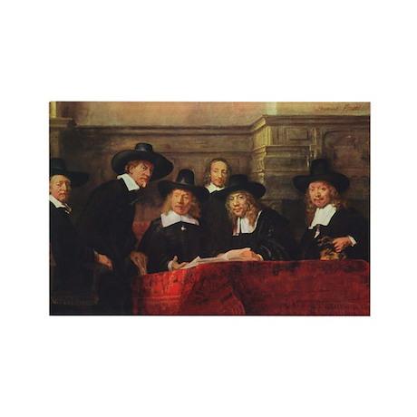 Rembrandt - Syndics of TCM Guild Rectangle Magnet