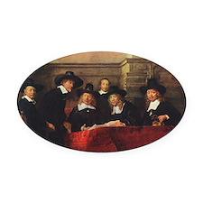 Rembrandt - Syndics of TCM Guild Oval Car Magnet
