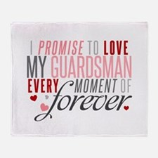 I Promise to love my Guardsman Throw Blanket