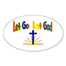 Let Go Let God Oval Decal
