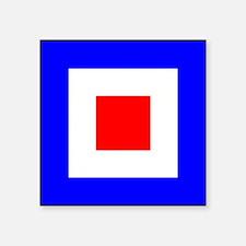 Nautical Flag Code Whiskey Sticker