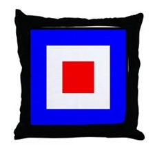 Nautical Flag Code Whiskey Throw Pillow