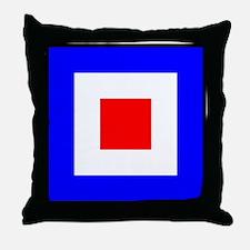 Nautical Flag Code Whiskey Throw Pillow