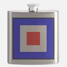 Nautical Flag Code Whiskey Flask